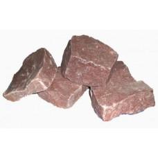 Бутовый камень малиновый кварцит фракция 0-300