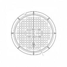 Люк чугунный легкий Л (А15)-К.1-55