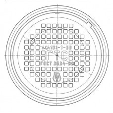 Люк чугунный легкий Л (А15)-ГТС.1-60