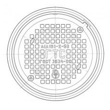 Люк чугунный легкий Л (А15)-ГТС.2-60