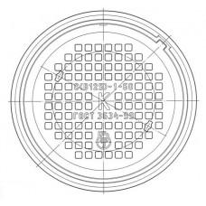 Люк чугунный средний С (В125)-К.1-60