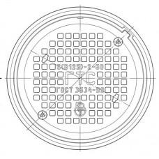 Люк чугунный средний С (В125)-ГТС.2-60