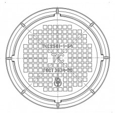 Люк чугунный тяжелый Т (С250)-ТС.1-64
