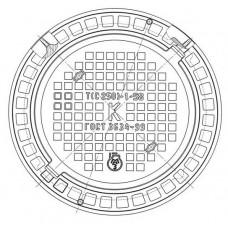 Люк плавающий чугунный тяжелый Т (С250)-К.1-58