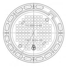 Люк чугунный тяжелый Т (С250)-К.2-60